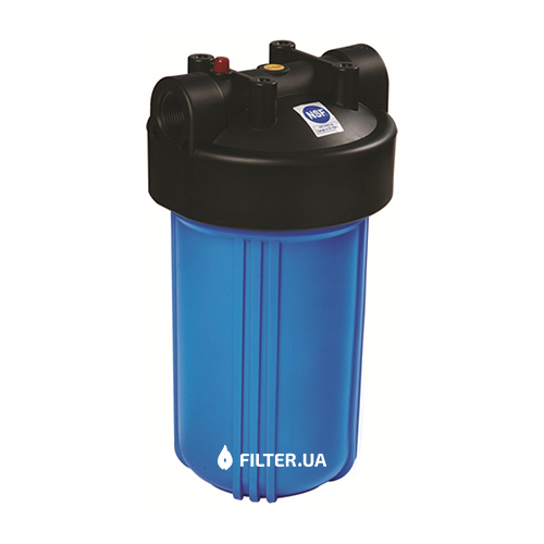 На изображении Фильтр Raifil Big Blue 10 с обезжелезивающим картриджем