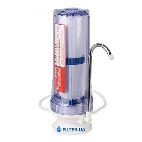 На изображении Проточный фильтр Новая Вода NW-F100