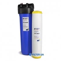 На зображенні Фільтр Mineral plus Big Blue 20 з картриджем пом'якшення (катіонообмінна смола)
