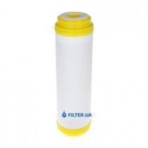 На зображенні Картридж з іонообмеінним гранулатом Aquafilter DIAION FCCST20BB