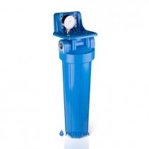 """На зображенні Фільтр Aquafilter 20"""" Slim з вугільним картриджем"""