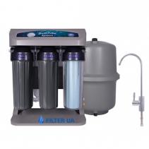 На зображенні Фільтр зворотного осмосу Aquafilter ELITE7G-GP із насосом та датчиком тиску