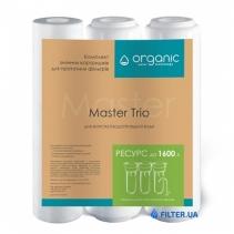 На зображенні Комплект картриджів Organic Master Trio для проточних фільтрів