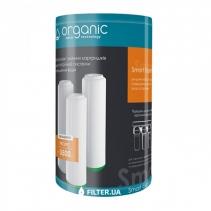 На зображенні Комплект картриджів Organic Smart Trio Expert покращений для проточних фільтрів