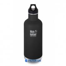 На зображенні Термофляга Klean Kanteen Classic Vacuum Insulated Shale Black (matt) 946 ml