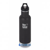 На зображенні Термофляга Klean Kanteen Classic Vacuum Insulated Shale Black (matt) 592 ml