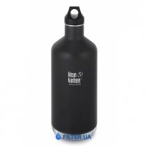 На зображенні Термофляга Klean Kanteen Classic Vacuum Insulated Shale Black (matt) 1900 ml